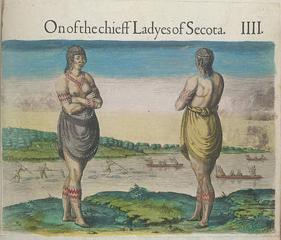 Theodor De Bry Photograph - A Woman Of Secoton by British Library