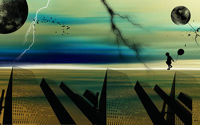 .abstract Dream Scapes Series Forever Dreams Print by Sir Josef Social Critic - ART