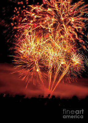 Firecracker Photograph - Abstract Fireworks by Robert Bales