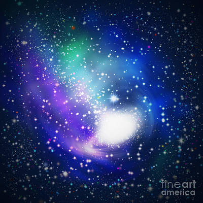 Abstract Galaxy Original by Atiketta Sangasaeng