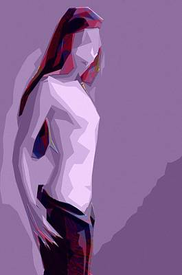 Girls Painting - Abstract Girl by Stefan Kuhn