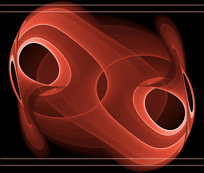 Spiritual Digital Art - Abstract In Red by Modern Art Prints