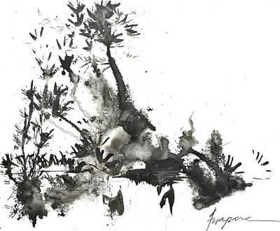 Fashion Abstract Art Drawing - Abstract Ink Art by Patricia Awapara