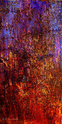 Abstract Print by J Larry Walker