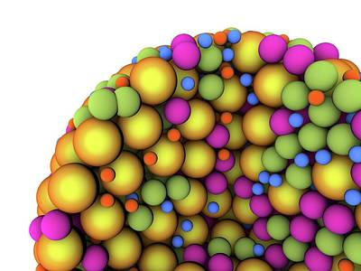 Abstract Molecule Print by Alfred Pasieka