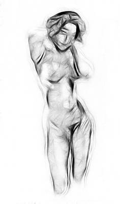 Abstract Nude Print by Steve K