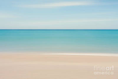 Abstract Tropical Beach  Print by Katherine Gendreau