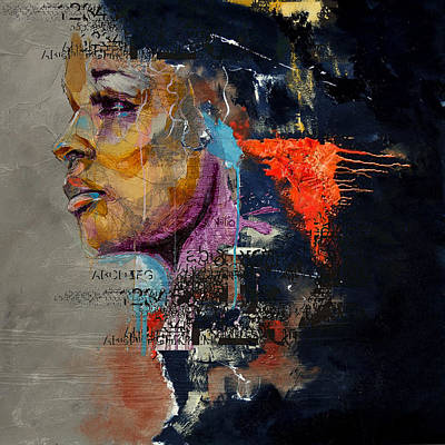 Nightmares Painting - Abstract Women 015 by Corporate Art Task Force
