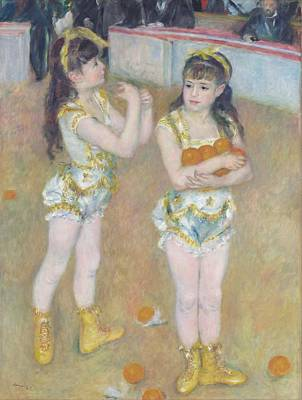 Pierre August Renoir Painting - Acrobats At The Cirque Fernando by Celestial Images