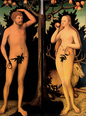 Innocence Painting - Adam And Eve by Mountain Dreams