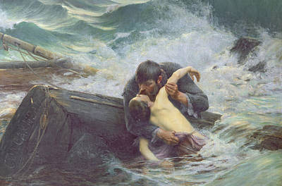 Embrace Painting - Adieu by Alfred Guillou
