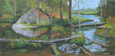 Interpretive Painting - Adirondack Ambiance by Robert P Hedden