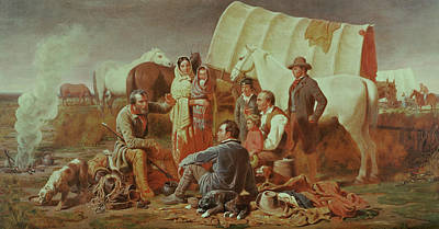 Lively Painting - Advice On The Prairie  by William Tylee Ranney