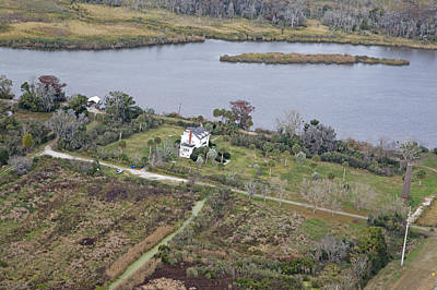 Georgia Plantation Photograph - Aerial Near Jekyll Island by Betsy Knapp