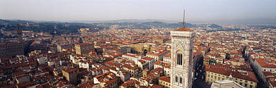 Rooftop Photograph - Aerial View Of A City, Florence by Panoramic Images
