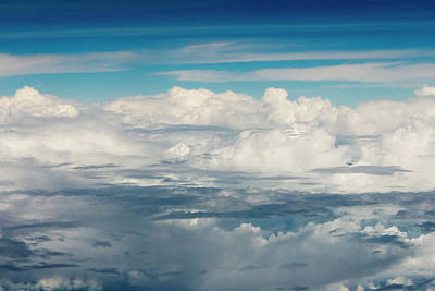 Aerial View Of Clouds, Indonesia (large Print by Keren Su