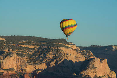Coconino National Forest Photograph - Aerial View, Red Rock Country, Sedona by Michel Hersen