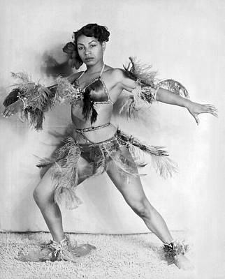 African-american Photograph - African American Woman Dancer by Underwood Archives