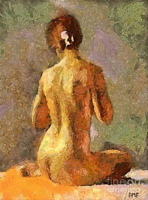 Nudes Mixed Media - After A Bath by Dragica  Micki Fortuna