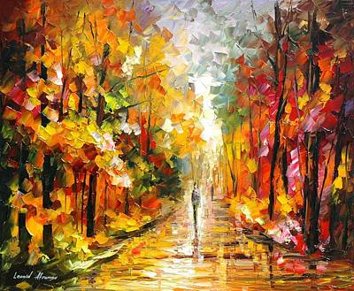 After The Rain Print by Leonid Afremov