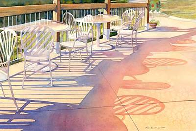 Afternoon Shadows At Les Bourgeois Print by Brenda Beck Fisher