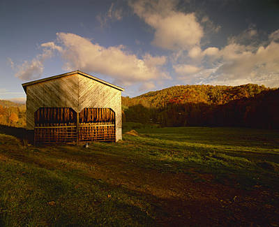Agriculture - Tobacco Barn In A Rural Print by R. Hamilton Smith