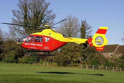 Air Ambulance Helicopter Print by Sheila Terry