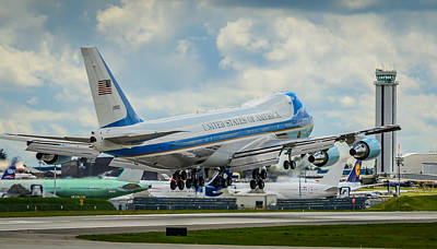 Air Force One Print by Puget  Exposure