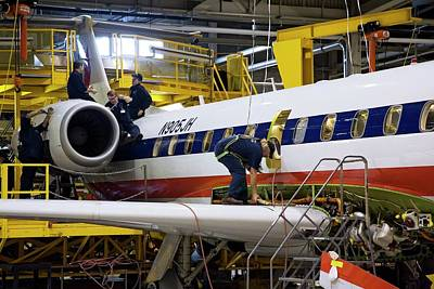 Airlines Photograph - Aircraft Maintenance by Jim West