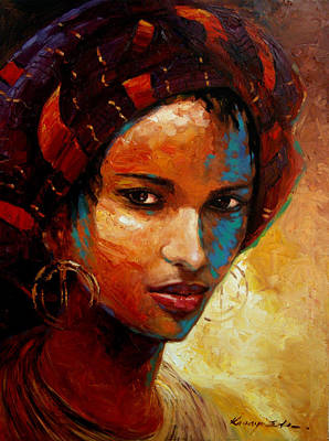 African American Painting - Aisha by Kanayo Ede