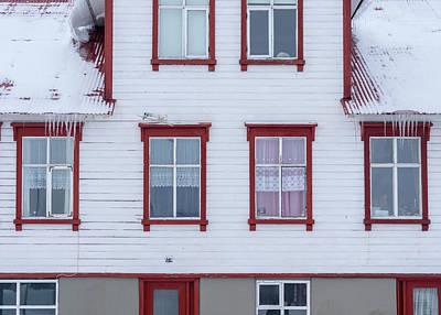 Akureyri During Winter Print by Martin Zwick