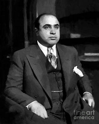 Al Capone - Scarface Print by Michael Braham