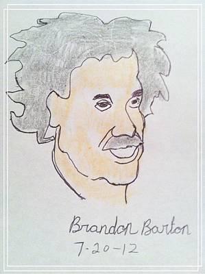 Einstein Drawing - Albert Einstein by Michael Barton