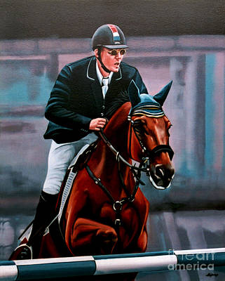Stallion Painting - Albert Zoer And Sam by Paul Meijering