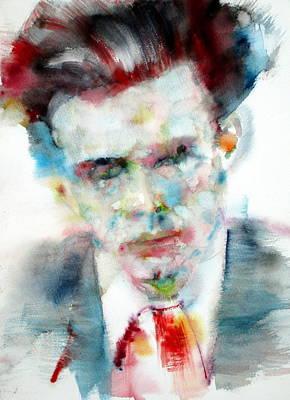 Huxley Painting - Aldous Huxley - Watercolor Portrait by Fabrizio Cassetta