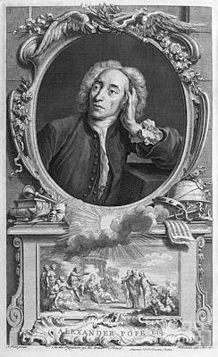 Alexander Pope, English Poet Print by Middle Temple Library