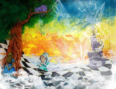 Bob Ross Mixed Media - Alice In Wonderland by Ben Christianson