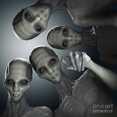 Extraterrestrial Photograph - Alien Abduction by Science Picture Co
