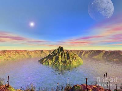 Alien Lake, Conceptual Artwork Print by Walter Myers