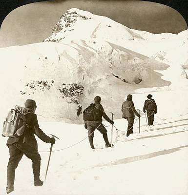 Ambition Photograph - Alpine Mountaineers, 1908 by Granger