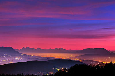 Alps At Dusk Print by Babak Tafreshi