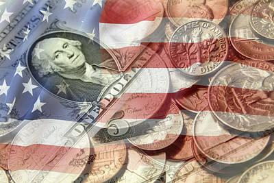 Financial Digital Art - American Currency by Les Cunliffe