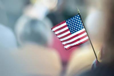 American Flag Print by Alex Grichenko