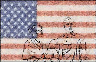 American Patriots Print by Dan Sproul