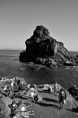 Bay Photograph - Ammoudi Beach by George Atsametakis