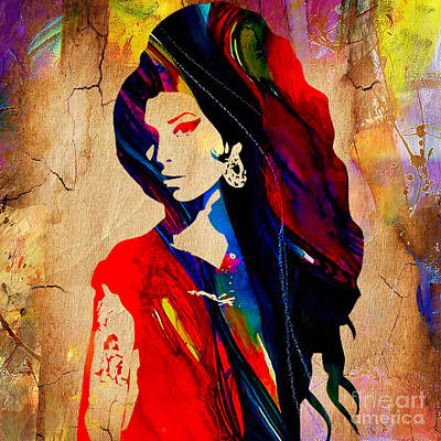 Amy Winehouse Collection Print by Marvin Blaine