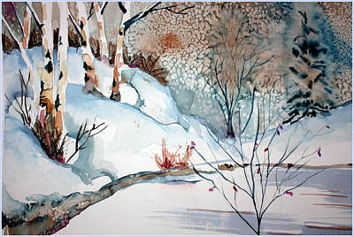 Snowed Trees Mixed Media - An Icy Winter by Mindy Newman