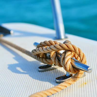 At Sea Photograph - Anchor Line by Laura Fasulo