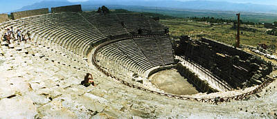 Roman Ruins Photograph - Ancient Theatre In The Ruins by Panoramic Images