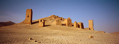Palmyra Photograph - Ancient Tombs On A Landscape, Palmyra by Panoramic Images